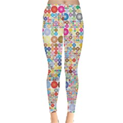 Circle Rainbow Polka Dots Leggings