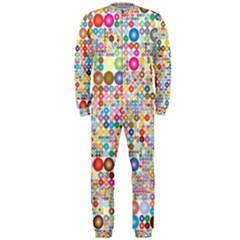 Circle Rainbow Polka Dots Onepiece Jumpsuit (men)