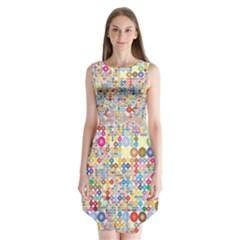 Circle Rainbow Polka Dots Sleeveless Chiffon Dress