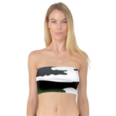 Landscape Silhouette Clipart Kid Abstract Family Natural Green White Bandeau Top