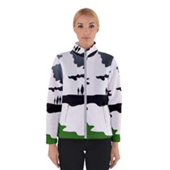 Landscape Silhouette Clipart Kid Abstract Family Natural Green White Winterwear