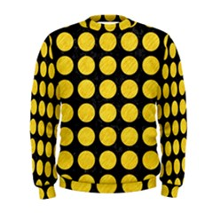 Circles1 Black Marble & Yellow Colored Pencil (r) Men s Sweatshirt
