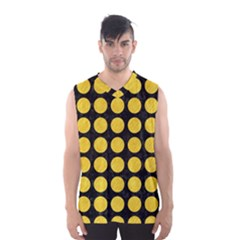 Circles1 Black Marble & Yellow Colored Pencil (r) Men s Basketball Tank Top