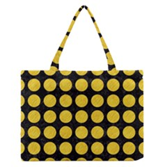 Circles1 Black Marble & Yellow Colored Pencil (r) Zipper Medium Tote Bag