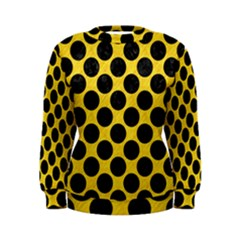 Circles2 Black Marble & Yellow Colored Pencil Women s Sweatshirt