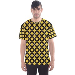 Circles3 Black Marble & Yellow Colored Pencil Men s Sports Mesh Tee