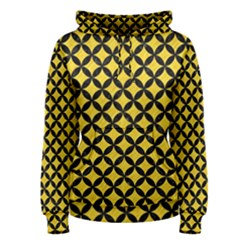 Circles3 Black Marble & Yellow Colored Pencil Women s Pullover Hoodie