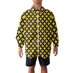 Circles3 Black Marble & Yellow Colored Pencil Wind Breaker (kids)