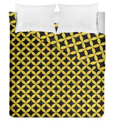 Circles3 Black Marble & Yellow Colored Pencil (r) Duvet Cover Double Side (queen Size)