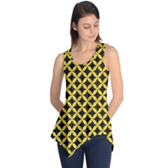 Circles3 Black Marble & Yellow Colored Pencil (r) Sleeveless Tunic