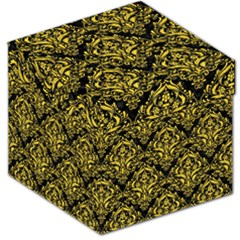 Damask1 Black Marble & Yellow Colored Pencil (r) Storage Stool 12