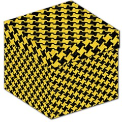 Houndstooth2 Black Marble & Yellow Colored Pencil Storage Stool 12