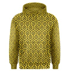 Hexagon1 Black Marble & Yellow Colored Pencil Men s Pullover Hoodie