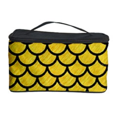 Scales1 Black Marble & Yellow Colored Pencil Cosmetic Storage Case