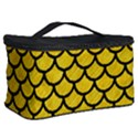 SCALES1 BLACK MARBLE & YELLOW COLORED PENCIL Cosmetic Storage Case View2