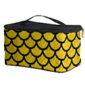 SCALES1 BLACK MARBLE & YELLOW COLORED PENCIL Cosmetic Storage Case View3