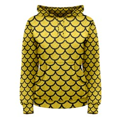 Scales1 Black Marble & Yellow Colored Pencil Women s Pullover Hoodie