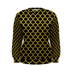 Scales1 Black Marble & Yellow Colored Pencil (r) Women s Sweatshirt