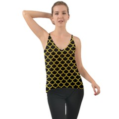 Scales1 Black Marble & Yellow Colored Pencil (r) Cami