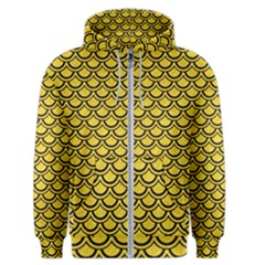 Scales2 Black Marble & Yellow Colored Pencil Men s Zipper Hoodie