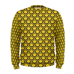Scales2 Black Marble & Yellow Colored Pencil Men s Sweatshirt