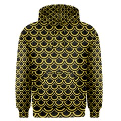 Scales2 Black Marble & Yellow Colored Pencil (r) Men s Pullover Hoodie