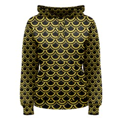 Scales2 Black Marble & Yellow Colored Pencil (r) Women s Pullover Hoodie