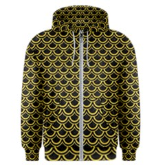 Scales2 Black Marble & Yellow Colored Pencil (r) Men s Zipper Hoodie
