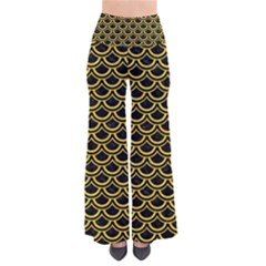 Scales2 Black Marble & Yellow Colored Pencil (r) Pants