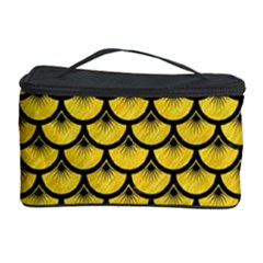 Scales3 Black Marble & Yellow Colored Pencil Cosmetic Storage Case