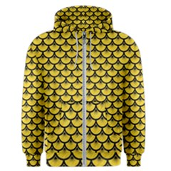 Scales3 Black Marble & Yellow Colored Pencil Men s Zipper Hoodie