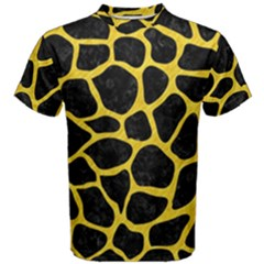 Skin1 Black Marble & Yellow Colored Pencil Men s Cotton Tee