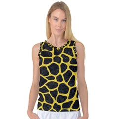 Skin1 Black Marble & Yellow Colored Pencil Women s Basketball Tank Top