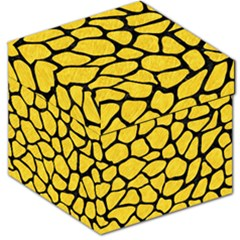 Skin1 Black Marble & Yellow Colored Pencil (r) Storage Stool 12