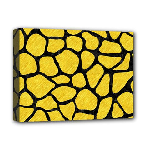 Skin1 Black Marble & Yellow Colored Pencil (r) Deluxe Canvas 16  X 12