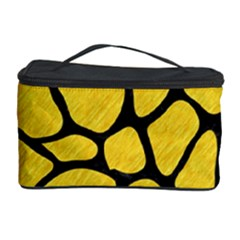 Skin1 Black Marble & Yellow Colored Pencil (r) Cosmetic Storage Case