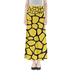 Skin1 Black Marble & Yellow Colored Pencil (r) Full Length Maxi Skirt
