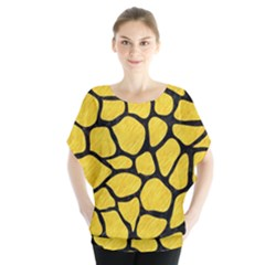 Skin1 Black Marble & Yellow Colored Pencil (r) Blouse