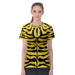 Skin2 Black Marble & Yellow Colored Pencil Women s Sport Mesh Tee