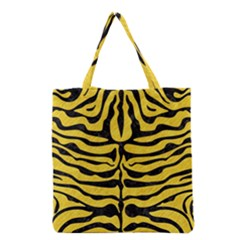 Skin2 Black Marble & Yellow Colored Pencil Grocery Tote Bag