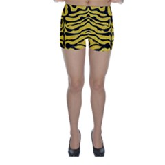 Skin2 Black Marble & Yellow Colored Pencil Skinny Shorts