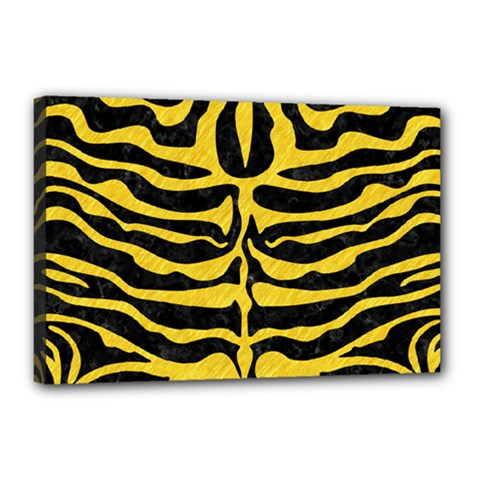 Skin2 Black Marble & Yellow Colored Pencil (r) Canvas 18  X 12