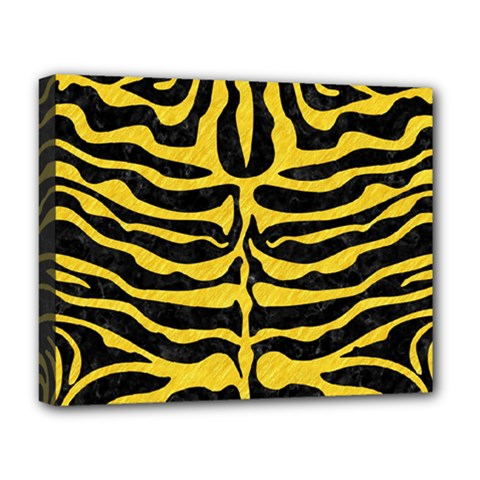 Skin2 Black Marble & Yellow Colored Pencil (r) Deluxe Canvas 20  X 16