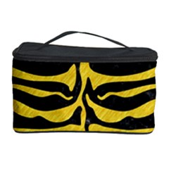 Skin2 Black Marble & Yellow Colored Pencil (r) Cosmetic Storage Case