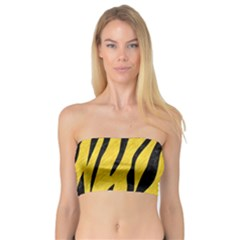 Skin3 Black Marble & Yellow Colored Pencil Bandeau Top