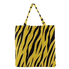 Skin3 Black Marble & Yellow Colored Pencil Grocery Tote Bag