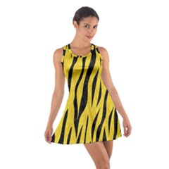 Skin3 Black Marble & Yellow Colored Pencil Cotton Racerback Dress