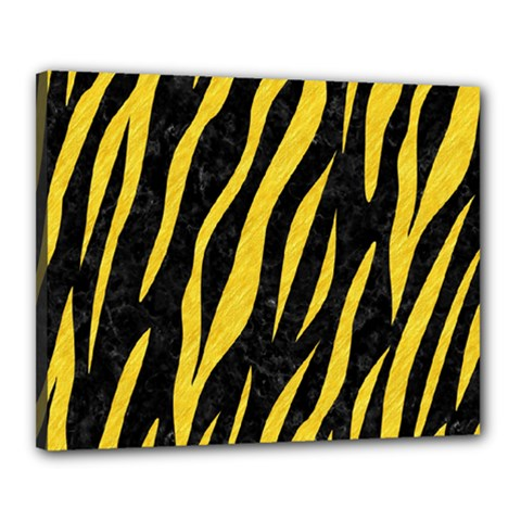 Skin3 Black Marble & Yellow Colored Pencil (r) Canvas 20  X 16
