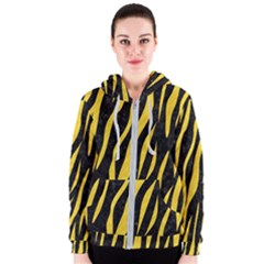 Skin3 Black Marble & Yellow Colored Pencil (r) Women s Zipper Hoodie