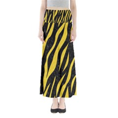 Skin3 Black Marble & Yellow Colored Pencil (r) Full Length Maxi Skirt